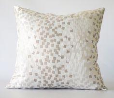 Silver Confetti Pillow Cover