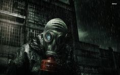 Sexy Girl Gas Mask Wallpaper Wallnest