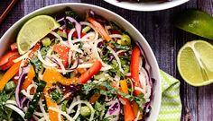 Salad Recipe: Jicama Noodle Salad w/ Creamy-Tahini Ginger Dressing #vegan #recipes #healthy #plantbased #whatveganseat #glutenfree #salad