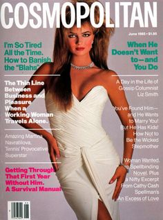 Cosmopolitan magazine, JUNE 1985 Model: Paulina Korizkova Photographer: Francesco Scavullo
