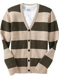 Men's Striped Cardigans