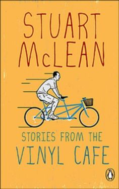 Stories from the Vinyl Café by Stuart McLean http://www.amazon.ca/dp/0143169718/ref=cm_sw_r_pi_dp_m474tb1SEJDCE
