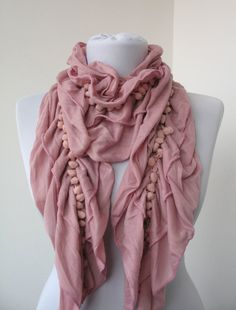 Your place to buy and sell all things handmade Ruffle Scarf, Lace Scarf, Fluid Design, Off Sale, Neck Warmer, Shawl, Rose, Fabric, Shopping