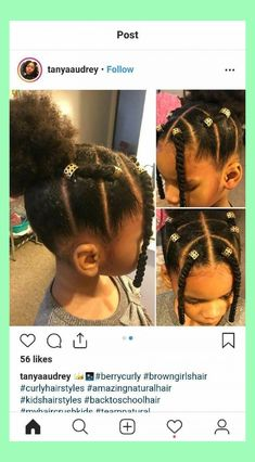 No front things 17 Trendy Kids Hairstyles You Have to Try-Out on Your Kids - Natural Hair Styles Lil Girl Hairstyles, Black Kids Hairstyles, Natural Hairstyles For Kids, Kids Braided Hairstyles, My Hairstyle, Trendy Hairstyles, African Hairstyles, Toddler Hairstyles, Hairstyles Pictures