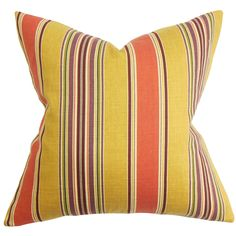 Hollis Stripes Throw Pillow