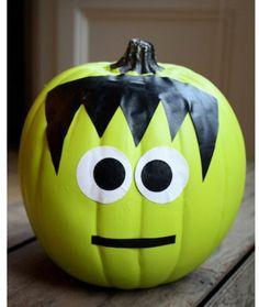 No carve pumpkins! Duct Tape Frankenstein BWAH!