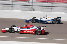 Honda and Chevy DW12 engine test Indycars.