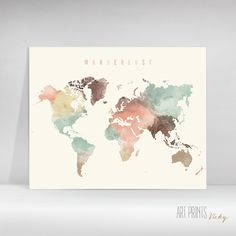 30 best artprintsvicky images on pinterest in 2018 city wanderlust world map poster gumiabroncs Image collections