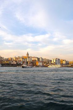 An expanse of water and gorgeous sky in #Istanbul , #Turkey #TravelTurkey