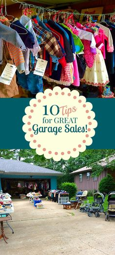 Tips for great garage sales. Quick ideas to make the most money at your next ya… Tips for great garage sales. Quick ideas to make the most money at your next yard sale. Garage Sale Organization, Garage Sale Tips, Garage Storage, Organization Hacks, Hang Clothes Garage Sale, Garage Sale Pricing, Sale Clothes, Organizing Life, Hanging Clothes
