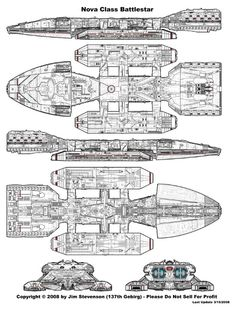 Blue Prints from Battlestar Galactica (TOS)