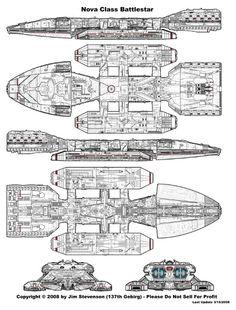 Blue Prints from Battlestar Galactica (TOS)