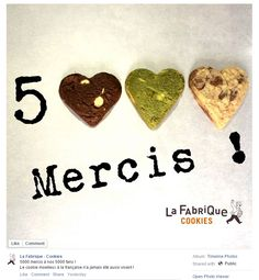 Great Facebook post from La Fabrique Cookies in Paris, France / Sympathique post Facebook de La Fabrique Cookies à Paris, France https://www.facebook.com/lafabrique.cookies/photos/a.278717828887856.65266.224800327612940/838491332910500/?type=1