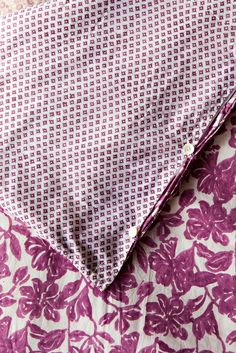 Kerry Cassill - Luxury Indian printed Bedding and Apparel — Plum Floral Duvet