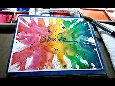 ▶ Mixed Media Mini Art Journal Series - Page #6 - Smile - YouTube