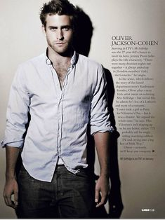 Oliver Jackson-Cohen...another idea for Christian??