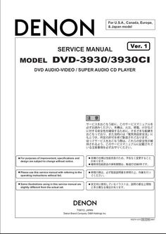 Denon avr 2808 service manual complete denon dvd 3930 dvd 3930ci service manual pdf format suitable for all windows download fandeluxe Choice Image