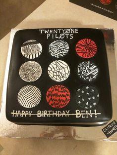 Twenty-one Pilots Album Cover Cake