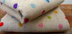 colourful polka dot fabric