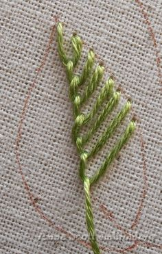 Blanket stitch leaves - part one