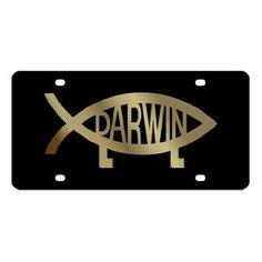 Darwin Evolve Fish License Plate