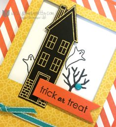 Stampin up stamping pretty mary fish demonstrator blog halloween card ideas homemade holiday home framelits dies