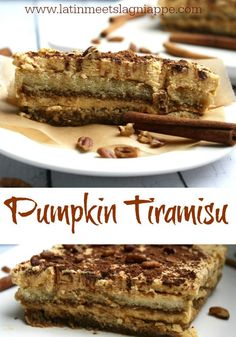 Simple, no-bake Pumpkin Tiramisu - a light and delicious fall dessert treat!