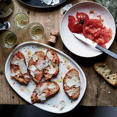 Pan con Tomate with Garrotxa Cheese Food & Wine Tapas Tapas Recipes, Wine Recipes, Cooking Recipes, Tapas Food, Tapas Dishes, Shrimp Recipes, Tapas Menu, Asian Recipes, Main Dishes