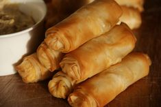 Carrot and Houmous Filo Rolls - these are really yummy! May try adding raisins in future.
