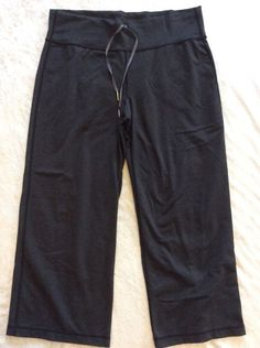Lululemon Still Pants Crops Possibly 8 Womens Grey Yoga Run Zipper Pocket #Lululemon #PantsTightsLeggings