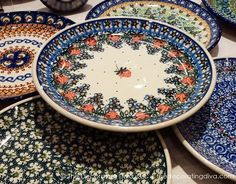 Traditional handcrafted and handpainted Polish pottery in floral and ornate patterns. | The Decorating Diva, LLC