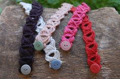 Crochet Broomstick Bracelet one row choose your colour by canijamakes