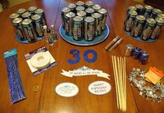 Life on E Avenue: Beer cake diy beers for 30 years!) Life on E Avenue: Beer cake diy beers for 30 years! 30th Birthday Parties, Birthday Presents, Birthday Ideas, Cake Birthday, Hubby Birthday, 21st Party, Diy Birthday, Beer Cake Gift, Beer Cakes