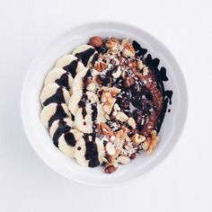 Chocolate Oats (1 bowl) | vegan, LF, GF