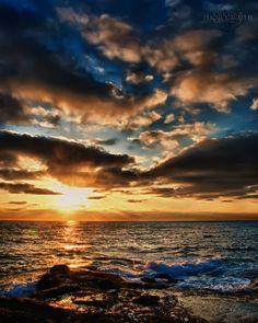 San Diego Ocean Sunset HDR by Creative--Dragon.deviantart.com on @DeviantArt