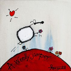 Art gallery of sheep ewe paintings for sale by Ann Gadd Wooly Jumper, Paintings For Sale, Creative Inspiration, Sheep, Contemporary Art, Art Gallery, Snoopy, Cartoon, Cool Stuff