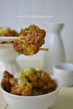 Du choufleur qui se prend pour du poulet, style asiatique. A essayer :)