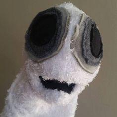 Spooky ghost hand puppet burtonesque by PaisleysPuppets on Etsy Hand Puppets, Paisley, Hands, Friends, Handmade, Etsy, Amigos, Hand Made, Boyfriends