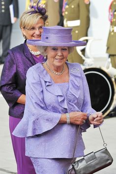 Queen Beatrix of the Netherlands, at the wedding of the Prince of Luxembourg, Oct. 2012 See more Outfits modeled by Women over 45: http://stillblondeafteralltheseyears.com/category/outfits-modeled-women-over-45/