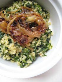 Almost Turkish Recipes: Bulgur Pilaf with Spinach and Fried Onions (Ispanaklı ve Kızarmış Soğanlı Bulgur Pilavı)