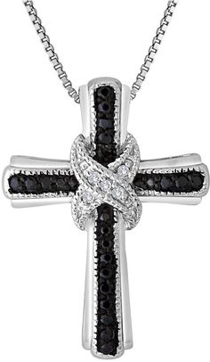 208 best black diamond cross necklace images on pinterest black tw white and color enhanced black diamond cross aloadofball Gallery
