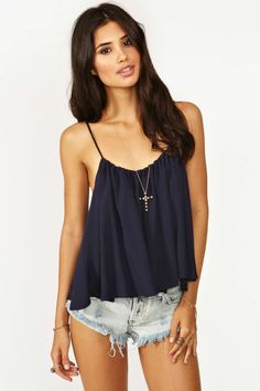 Mosaic Top - Navy | Shop What's New at Nasty Gal