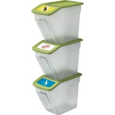 Buy HOME 34 Litre Plastic Recycling Bins - Set of 3 at Argos.co.uk, visit Argos.co.uk to shop online for Kitchen bins, Kitchenware, Cooking, dining and kitchen equipment, Home and garden