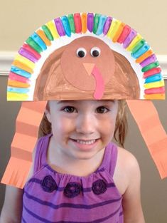 Gobble, gobble! With this fun craft, students can dress up as dinner's main event in celebration of Thanksgiving.