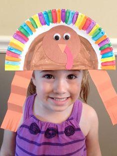 Paper Plate Turkey Hat Craft