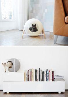 cat-bed_02 Geometric Cat, Cat House Diy, Cat Cave, Cat Room, Pet Furniture, Modern Cat Furniture, Cat Supplies, Diy Stuffed Animals, Pet Accessories