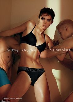 I am strong in The Spring 2016 Iron Strength Calvin Klein Underwear ad campaign, featuring models Kendall Jenner + Mitchell Slaggert. Kendall Jenner Calvin Klein, Kendall And Kylie, Kylie Jenner, Calvin Klein Ads, Calvin Klein Underwear, David Sims, Kardashian, Men's Underwear, Popsugar