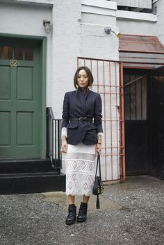 aimee_song_of_style_pinstripe_blazer_lace_dress_jimmy_choo_boots