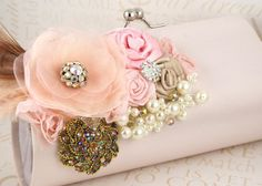 Bridal Clutch   Party Clutch in Blush Pink and by SolBijou on Etsy, $160.00