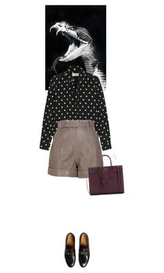 """""""Outfit of the Day"""" by wizmurphy ❤ liked on Polyvore featuring Yves Saint Laurent, Carven, Gucci, Aurélie Bidermann, PolkaDots and ootd"""
